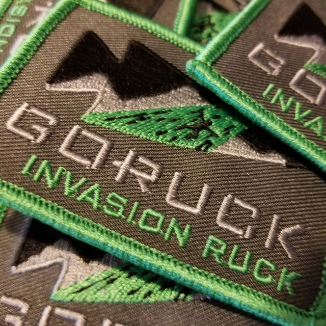 Invasion Ruck patches are here. DM me with your name and address if you participated and I will mail your patch.