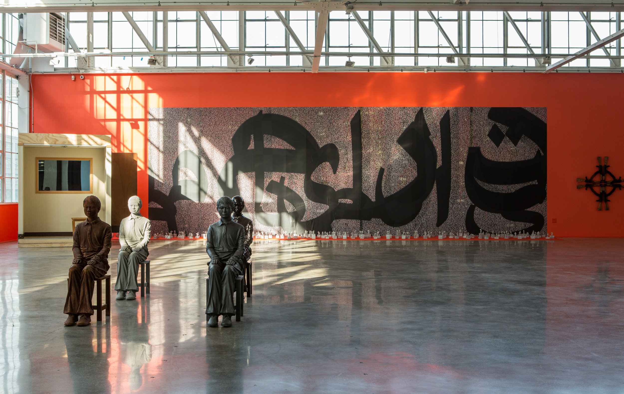 Constitution in Persian, Occupy Mana,  2017. Glass House, Mana Contemporary, Jersey City