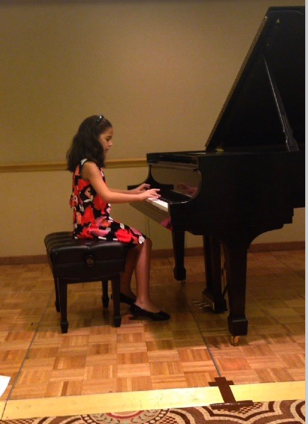 "Coral Rose performed her original composition ""Technology'"