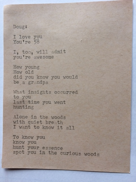 typewriter poem