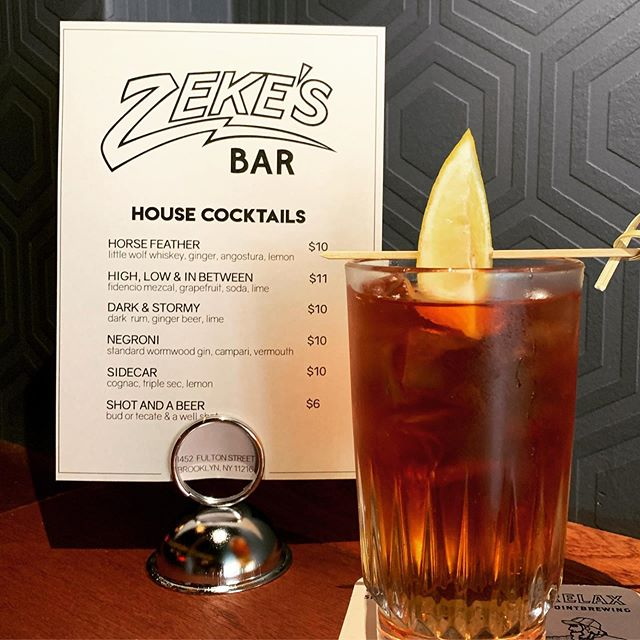 Come try the HORSE FEATHER @zekesbedstuy  featuring #littlewolfwhiskey