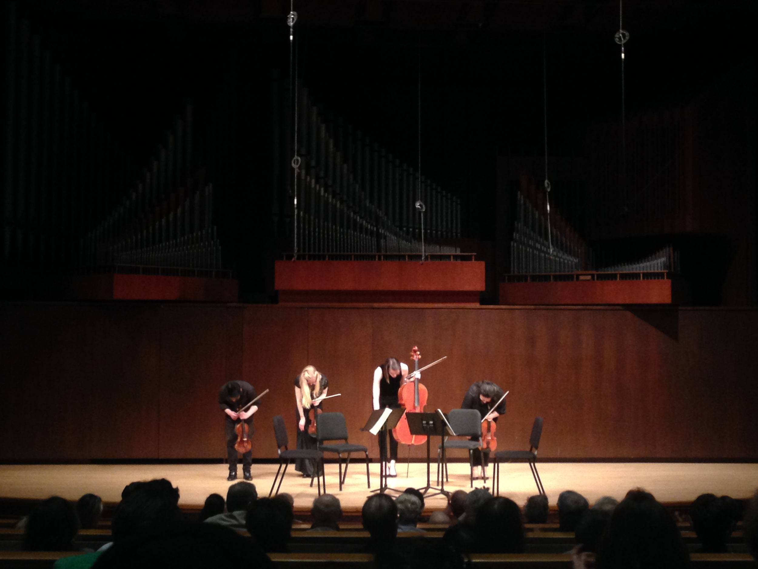 Congratulations to my dear roommate's marvelous string quartet