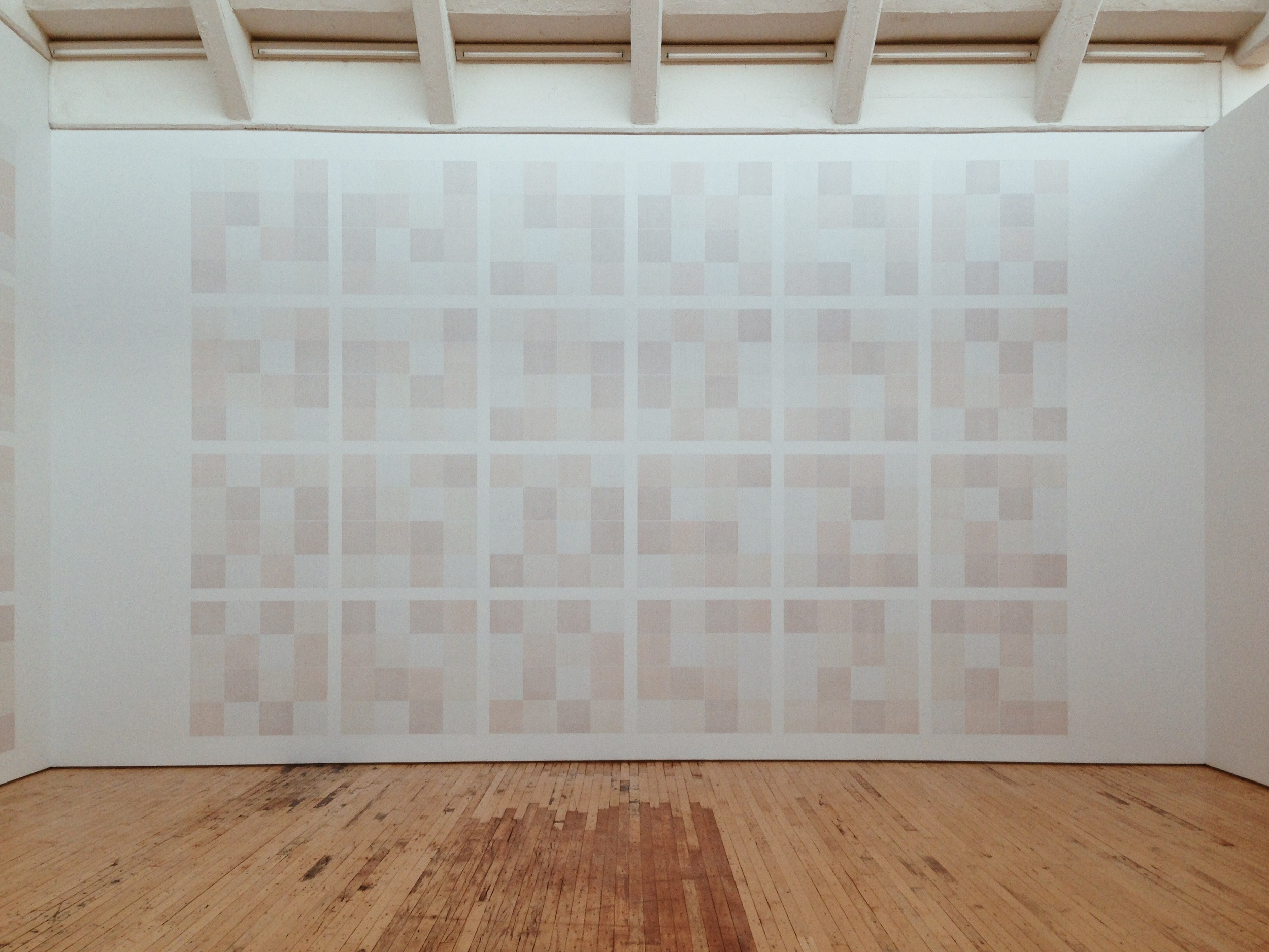 Sol LeWitt,Wall Drawing #1085: Drawing Series-Composite,Part I–IV, #1–24, A+B, (detail), 1968/2003. |Photo: Jinglu Huang