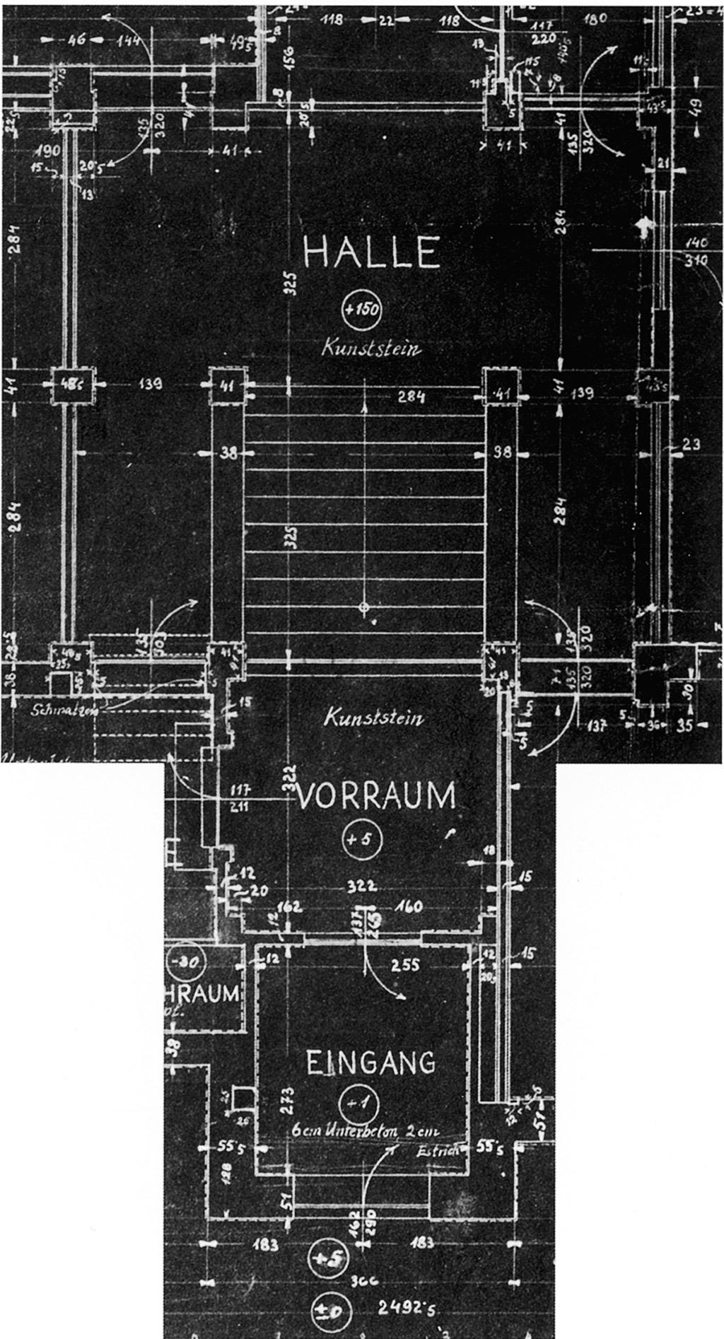 路德维希·维特根斯坦 | 平面图,维特根斯坦宅,维也纳,1928