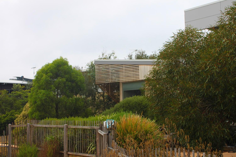 Bedroom extension in garden setting