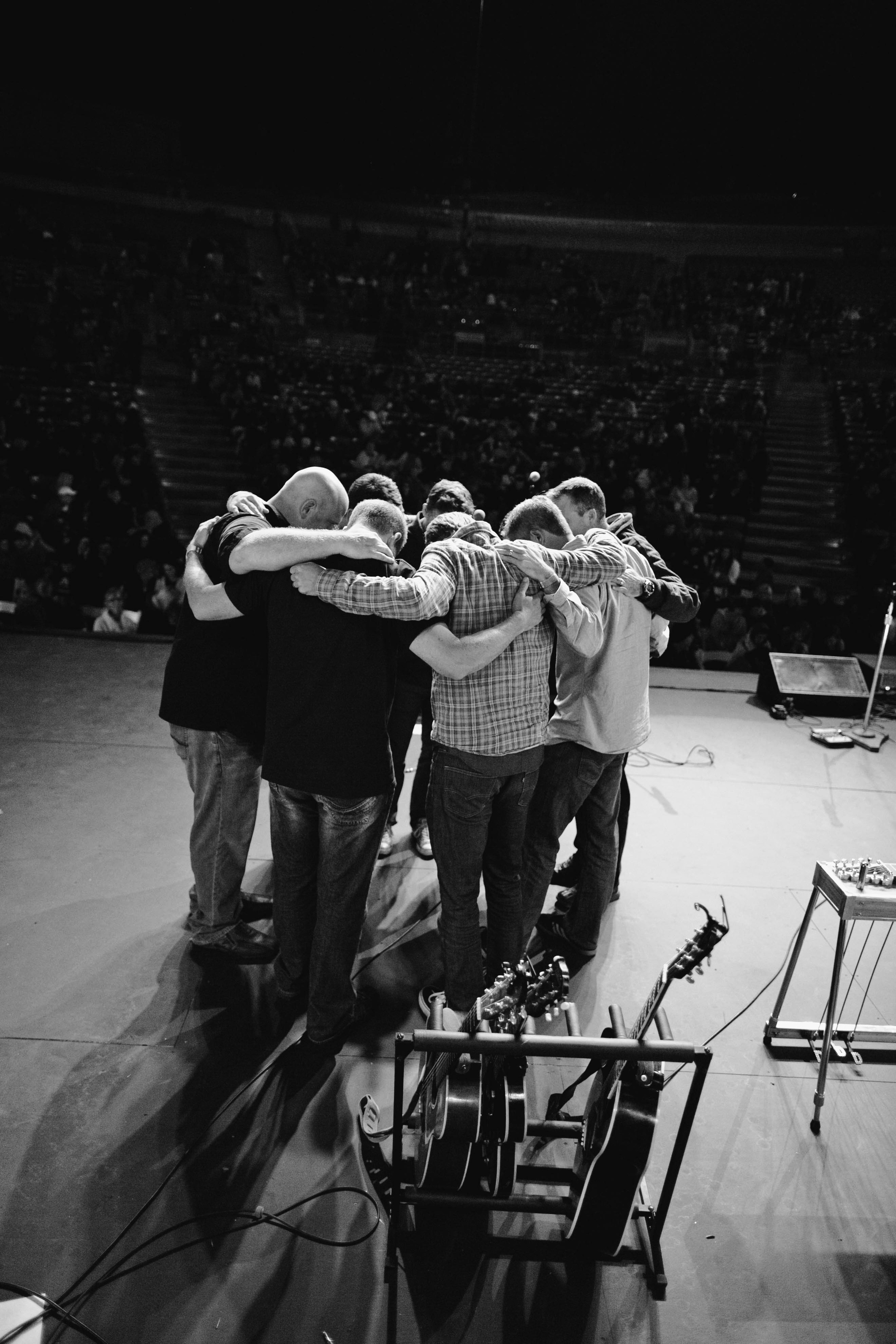 So-Cal pastors praying together at AET 2014 - Verizon Amphitheatre Irvine, CA.
