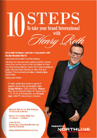 Henry Roth featured business seminar Northern Territory Fashion Week.