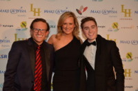 Henry Roth with Make-A-Wish co-ambassadors Melissa Doyle and Harrison Craig.