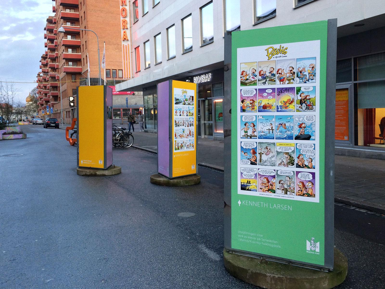 Malmö kulturstråk, Friisgatan, 2017.