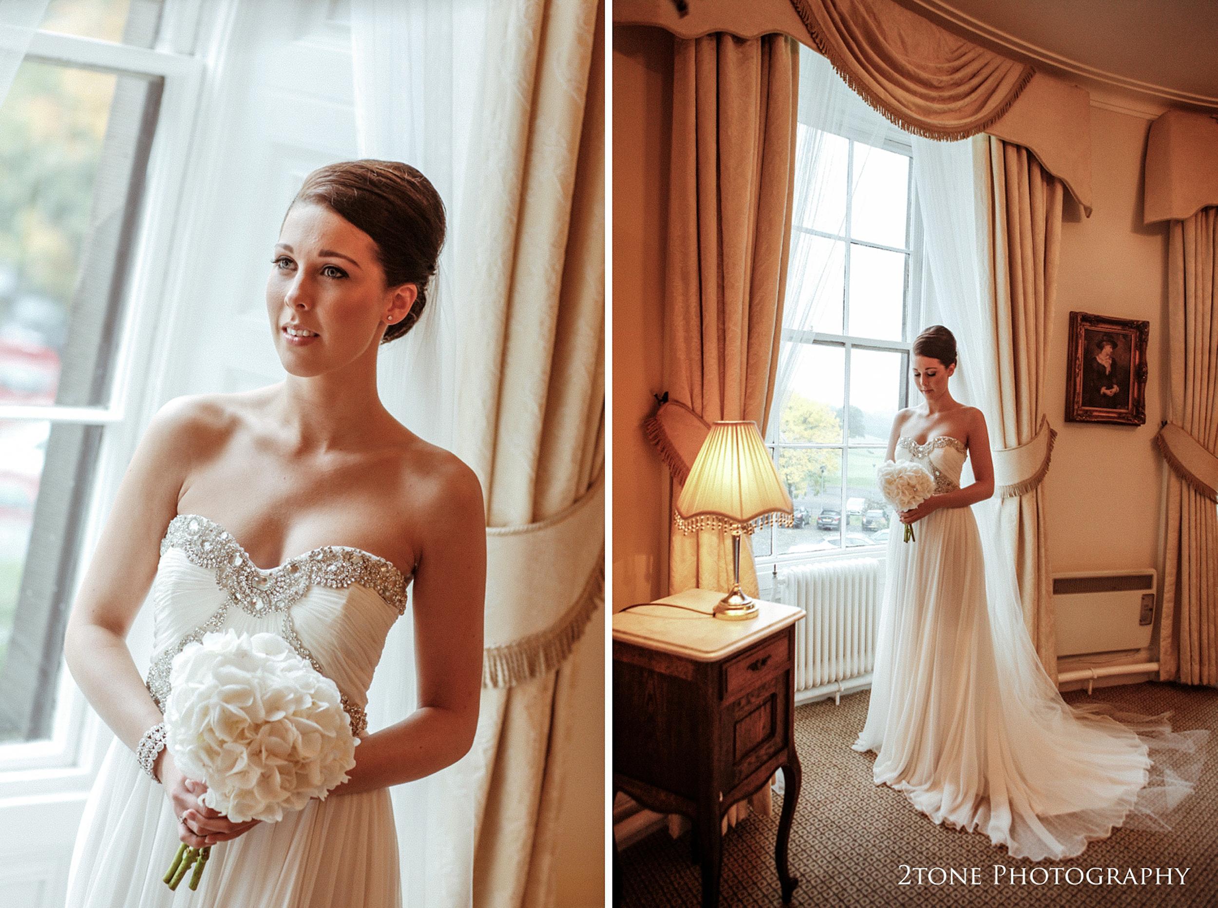 Beamish Hall wedding bride