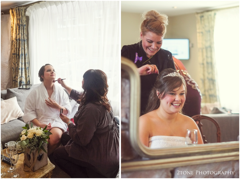Newton Hall bride getting ready