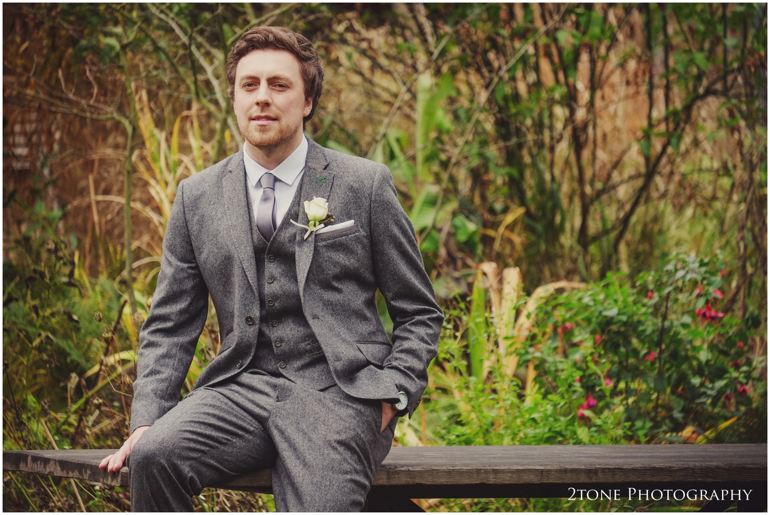 Grooms at Grrom getting ready for his wedding in Jesmond Dene House Hotel