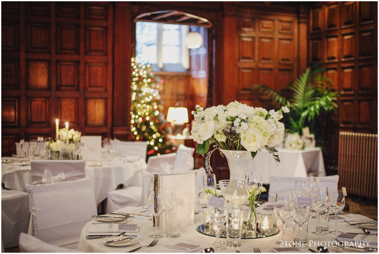 The Great Hall at Jesmond Dene House Hotel in Newcastle