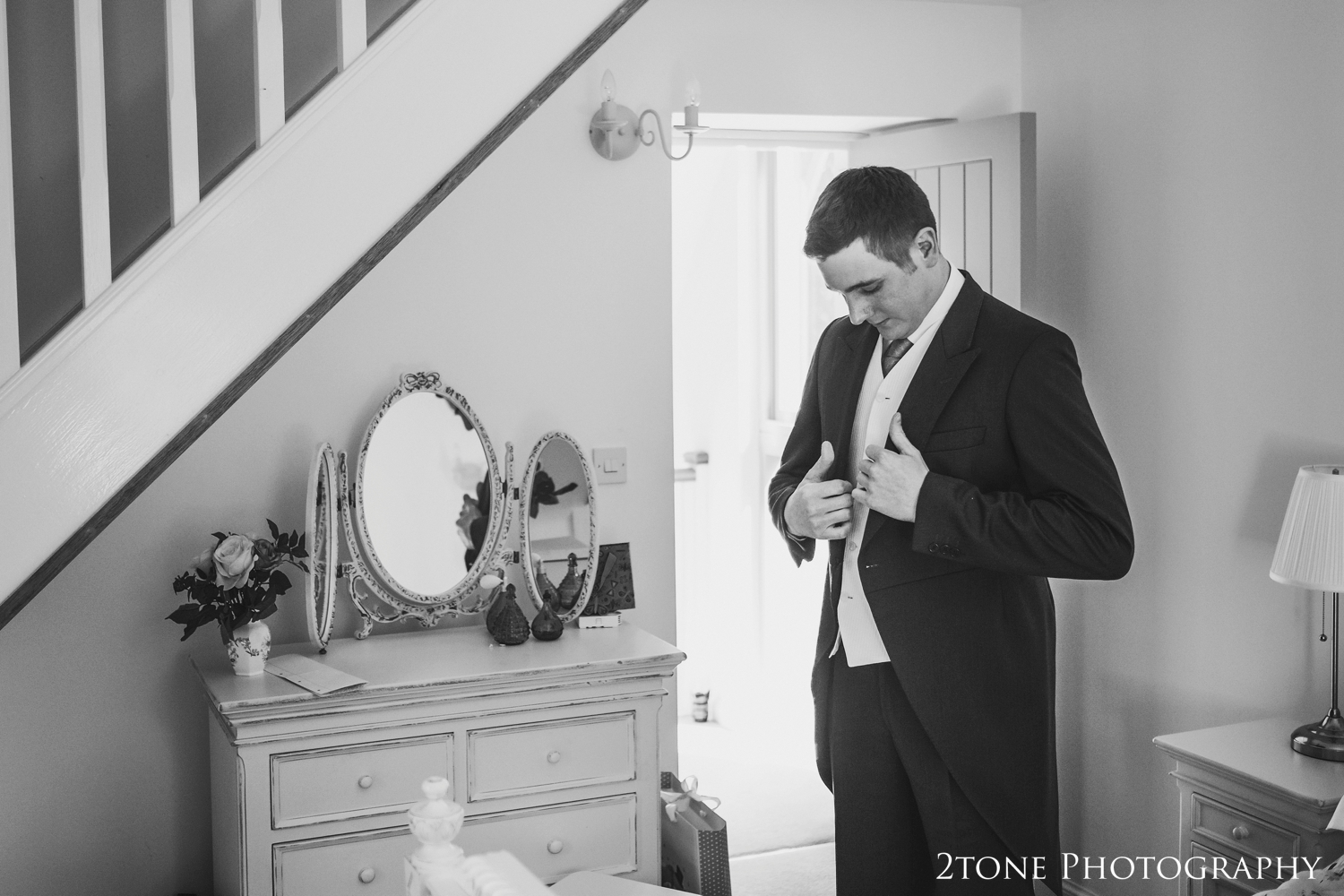 Middleton Hall groom getting ready wedding photography