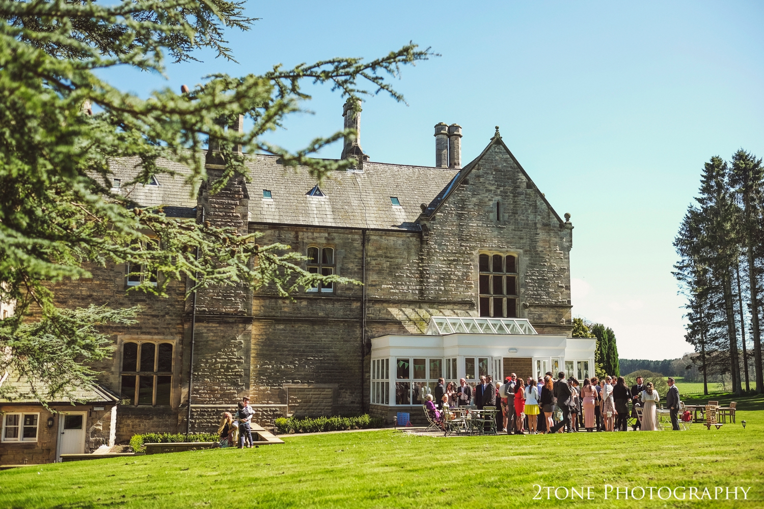 Middleton Hall in the springtime sunshine makes a perfect setting for a wedding.