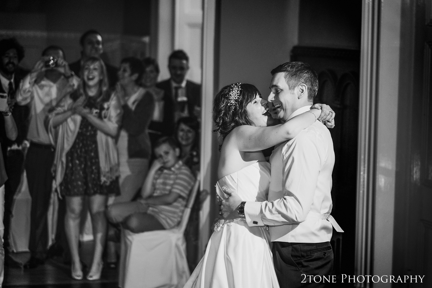 Bride and groom first dance at Middleton Hall
