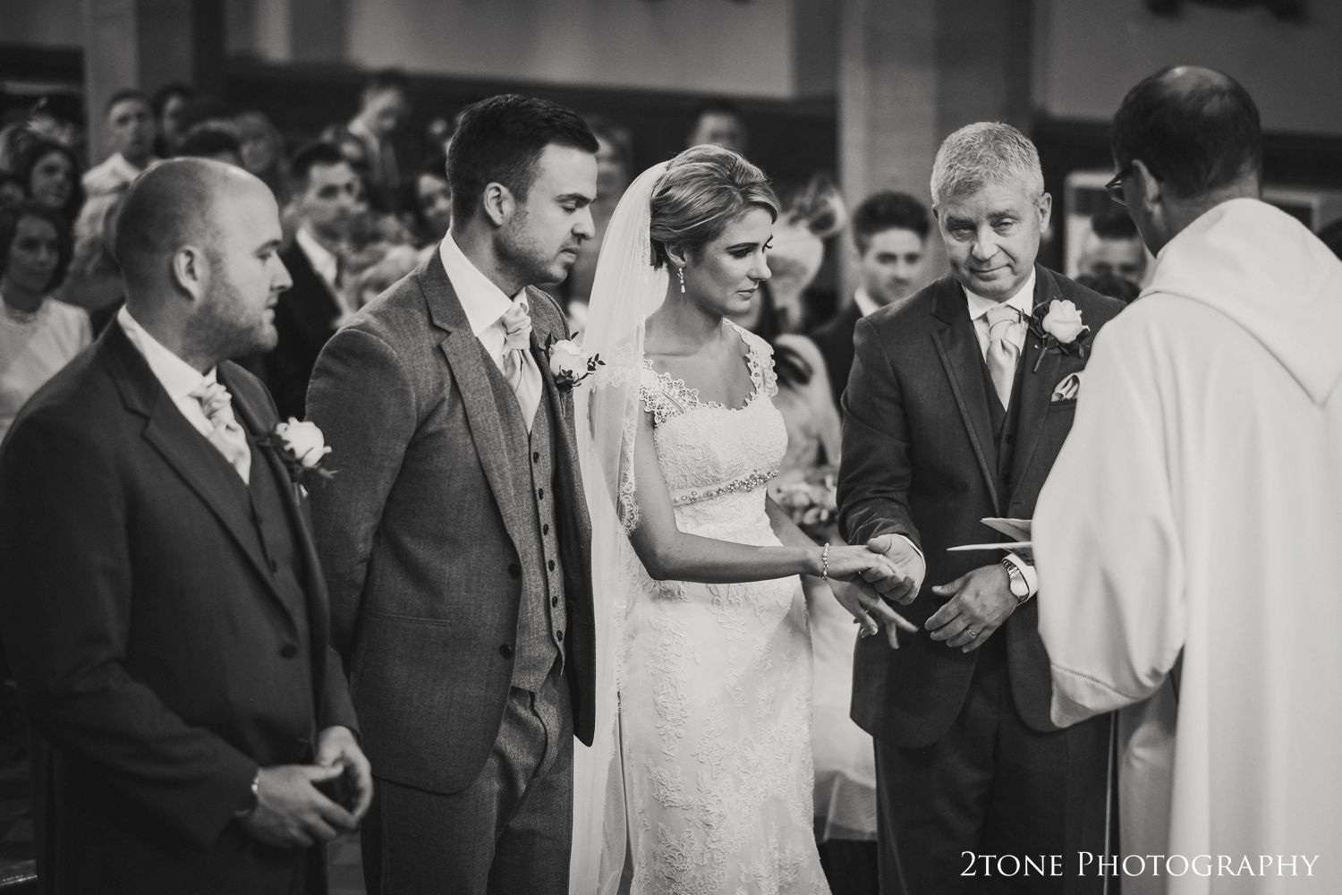 A proud moment for any Dad, giving his daughter away on her wedding day.
