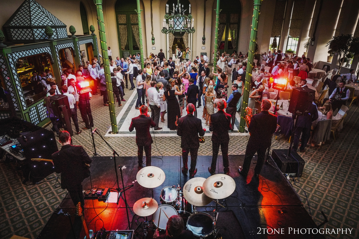 The conservatory at Wynyard Hall with the party in fully swing, what a great way to end the day.