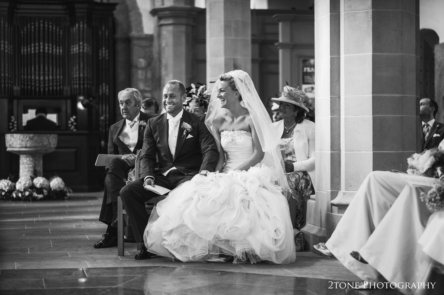 wedding ceremony at St Brandon's church, Brancepeth, Durham.  Wedding photography by www.2tonephotography.co.uk