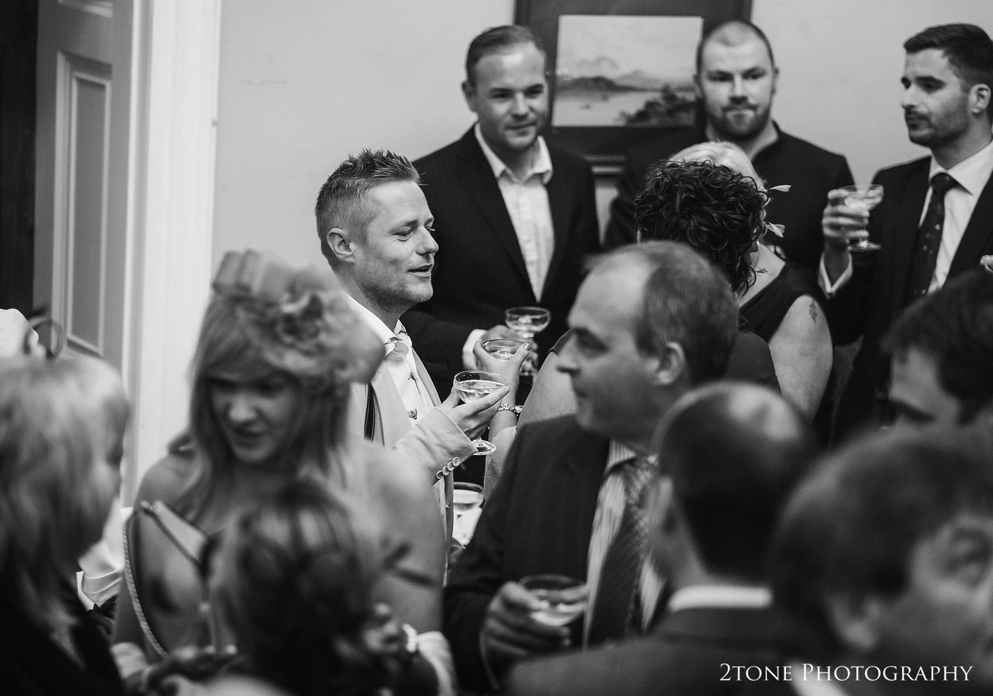 Drinks reception at Middleton Lodge.  Wedding photography by www.2tonephotography.co.uk