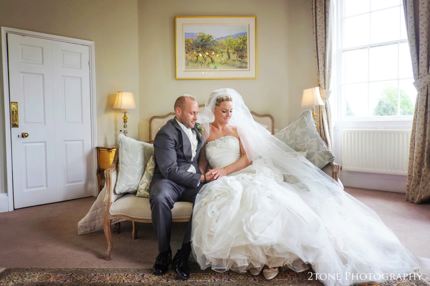 Sarah and Christian asked us both to share a few quiet moments with them in their bridal suite to capture them both relaxing in the beautiful room.
