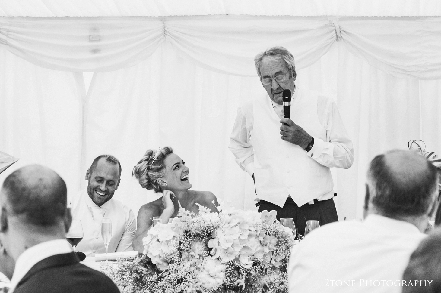 Father of the bride speech at Middleton Lodge.  Wedding photography by www.2tonephotography.co.uk