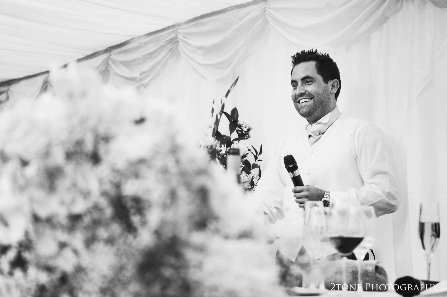 Best man speech at Middleton Lodge.  Wedding photography by www.2tonephotography.co.uk
