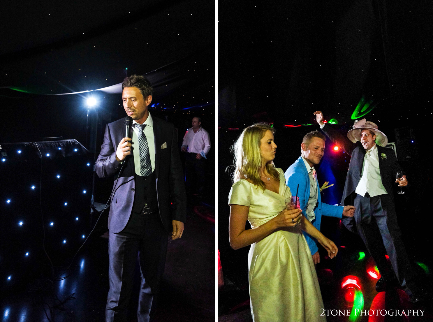 A family friend and wedding guest took to the mic and gave renditions of classic frank Sinatra songs as the guests danced the night away.