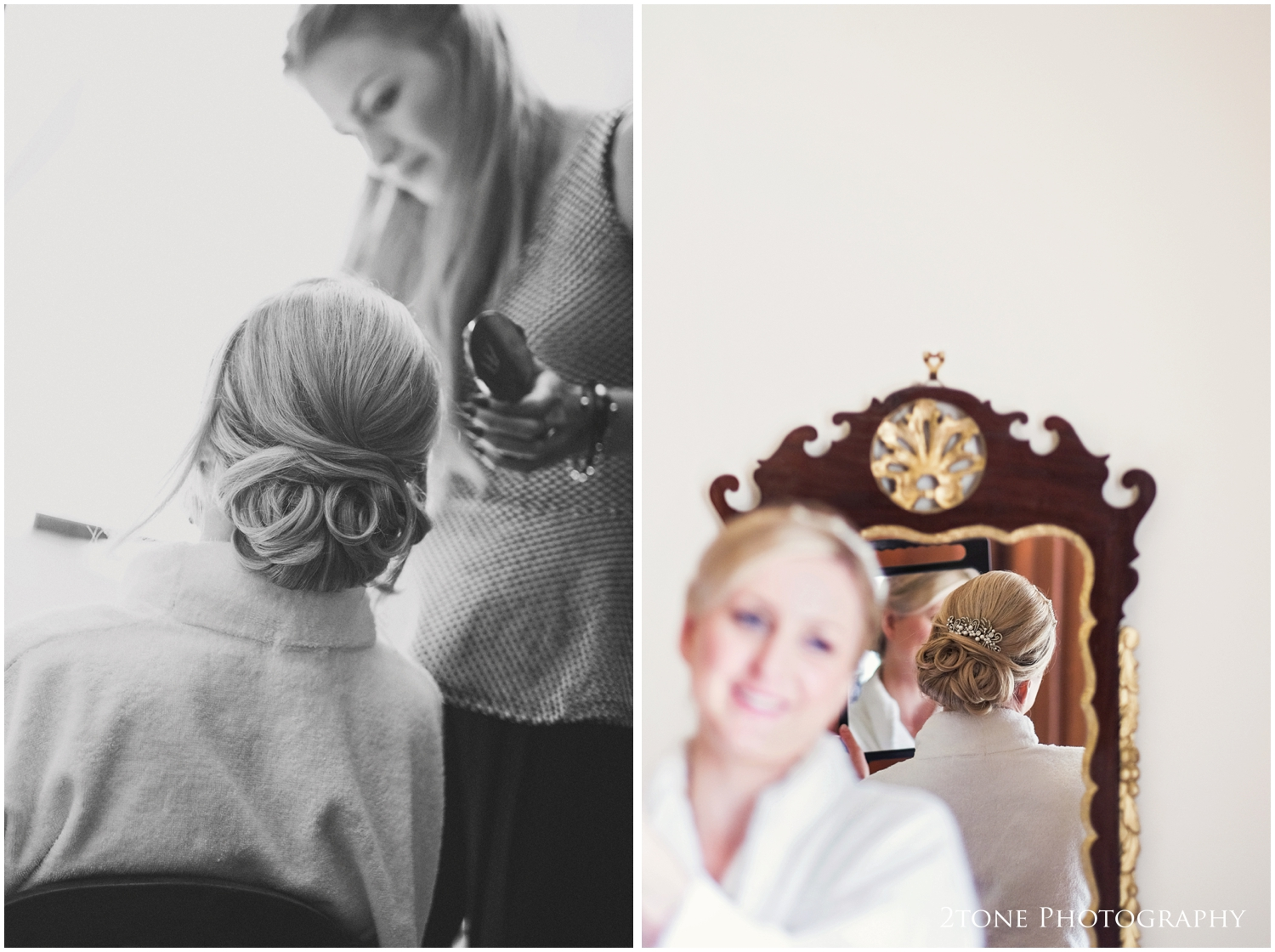 I loved the delicate vintage styled hair comb that Kristen chose to wear in her hair.