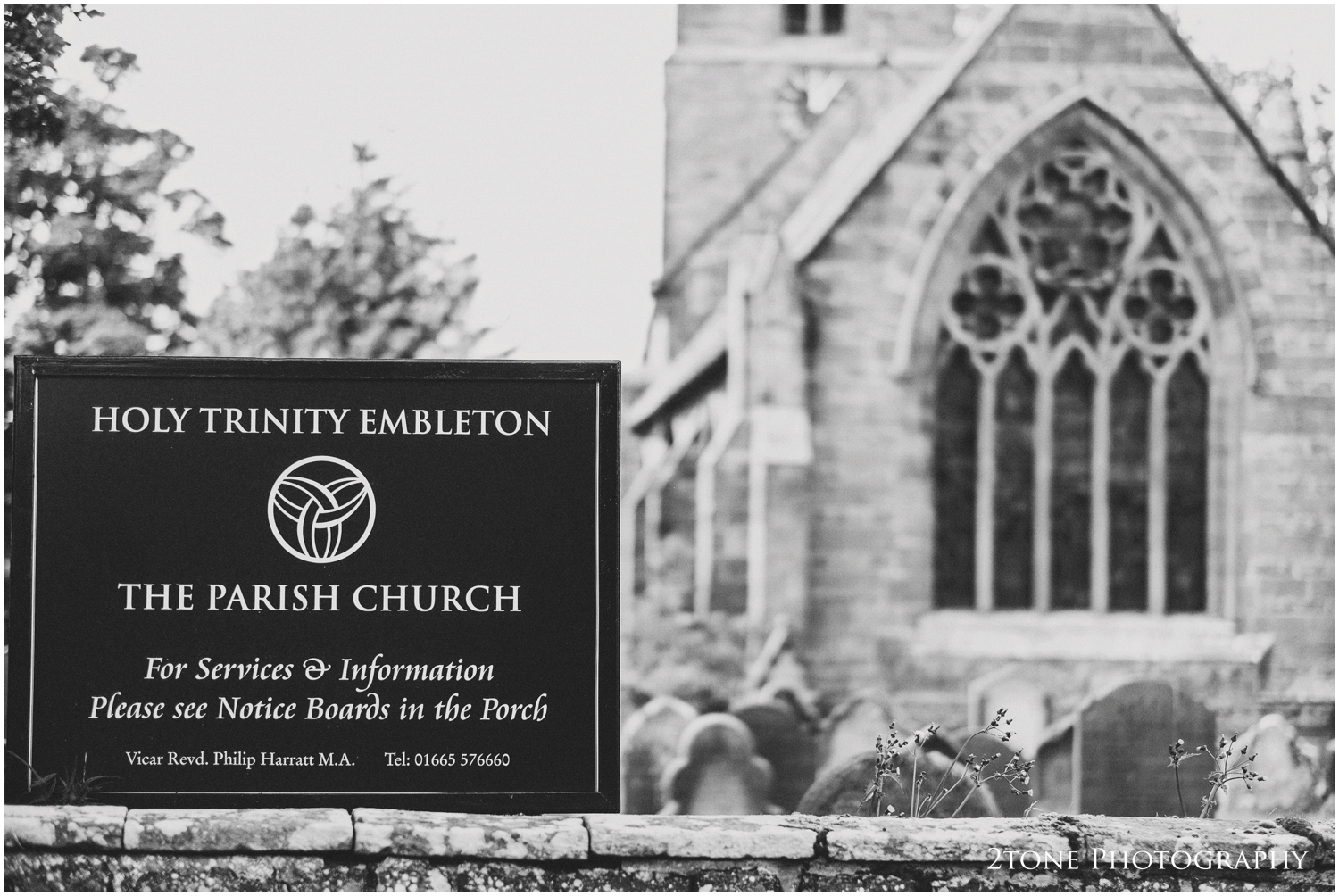 The wedding took place at the charming Holy Trinity Church in Embleton village.