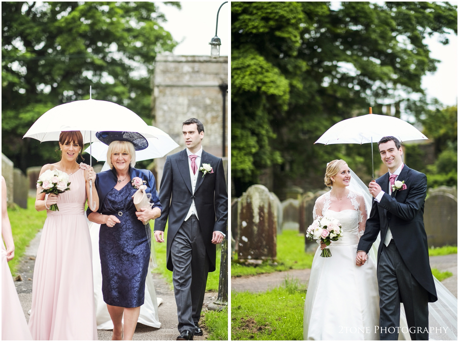 The rain begins again and so time to head off to Doxford Hall for their wedding reception.