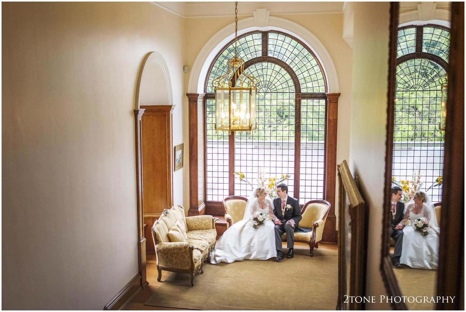 Staying out of the way of the bad weather, we made great use of the interior space of Doxford Hall for some beautiful photographs. The huge window on the stairs and a mirrormakes a great photograph opportunity.