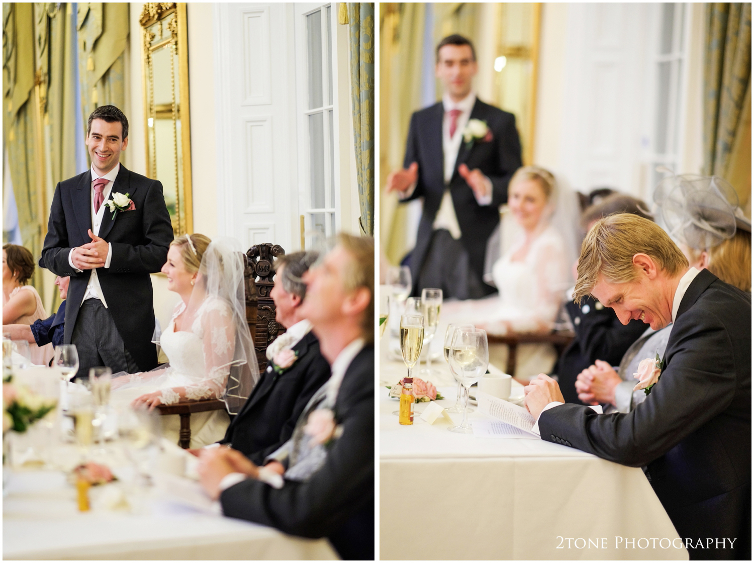 ...and adds a few final words, funny stories about his good friend and best man before it is his turn.