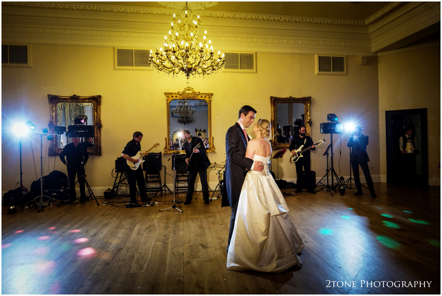 Kristen and Innes take to the dance floor for their first dance as man and wife.
