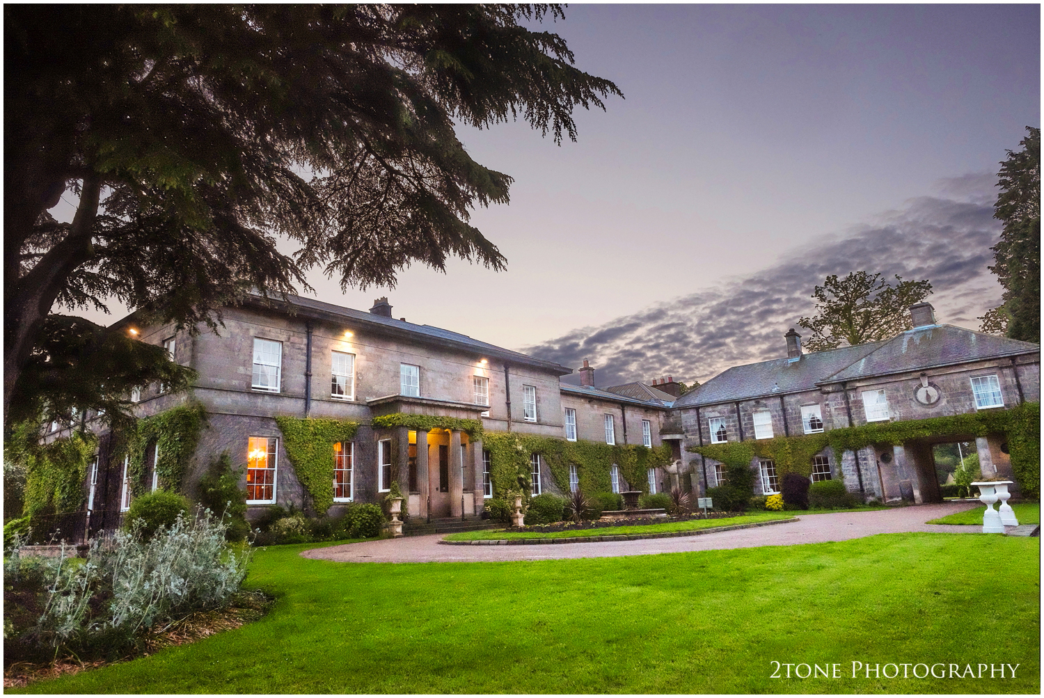 The end of the day, Doxford Hall looking stunning in the pastel shades of the early summer setting sun.