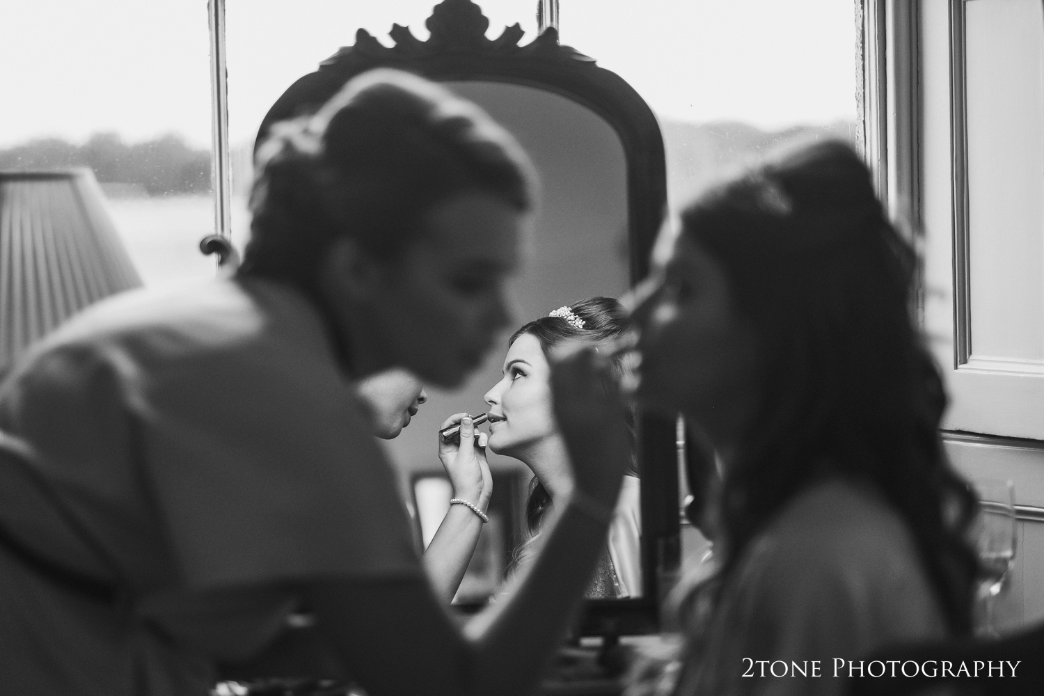 Wedding day make up at Wynyard Hall.  Wedding photography by www.2tonephotography.co.uk