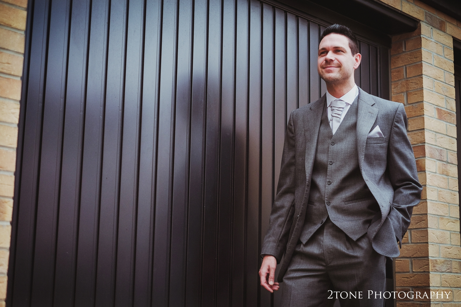 Groom's portrait for wedding at Doxford Hall.  Wedding Photography by Durham and Newcastle wedding photographers www.2tonephotography.co.uk