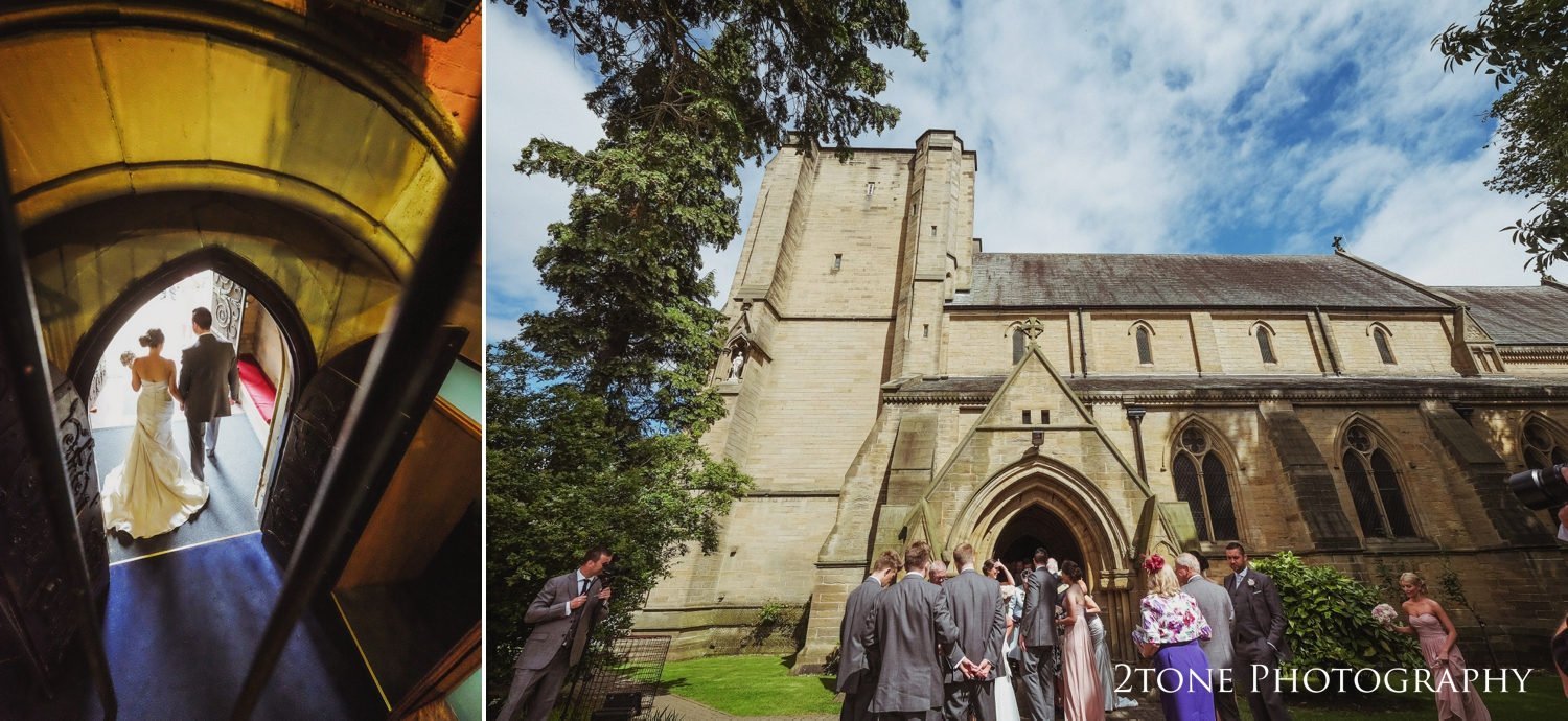 I love this quick little capture of Laura and Simon as they leave church and step into the sunlight.