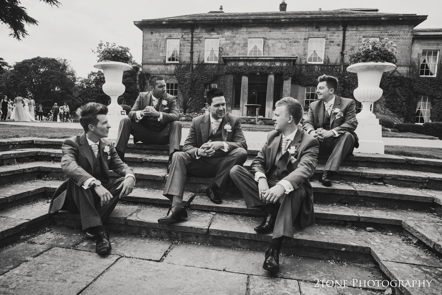 Groomsmen at Doxford Hall in Northumberland.  Wedding Photography by Durham and Newcastle wedding photographers www.2tonephotography.co.uk