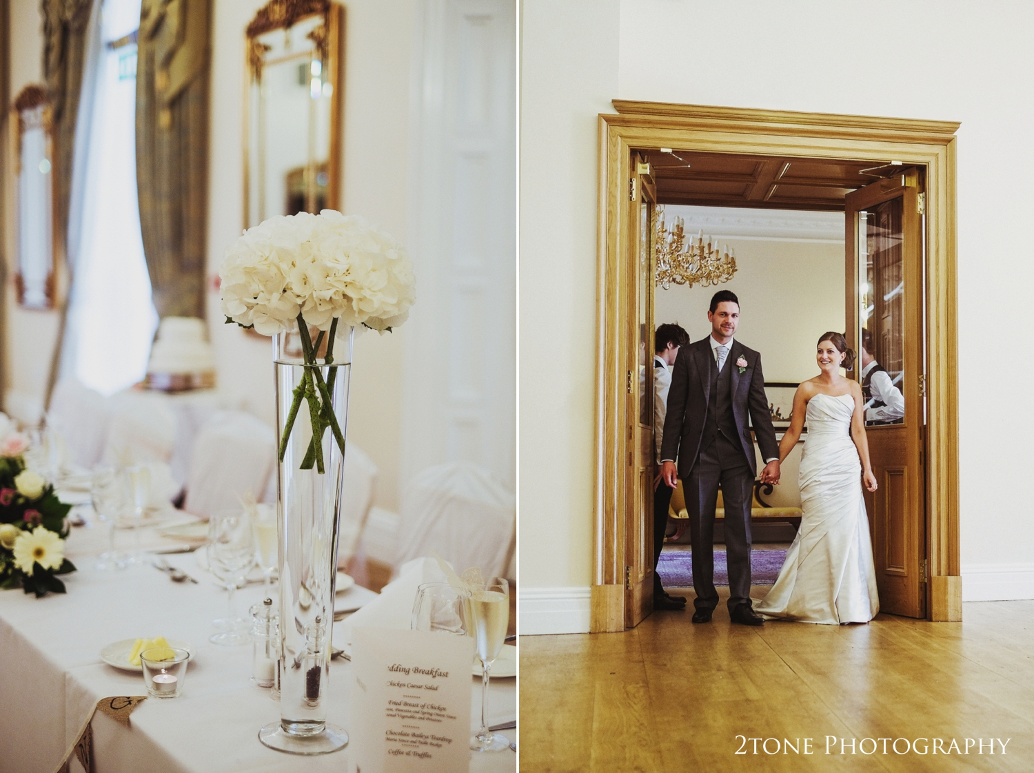 The Kennedy Suite at Doxford Hall in Northumberland.  Wedding Photography by Durham and Newcastle wedding photographers www.2tonephotography.co.uk