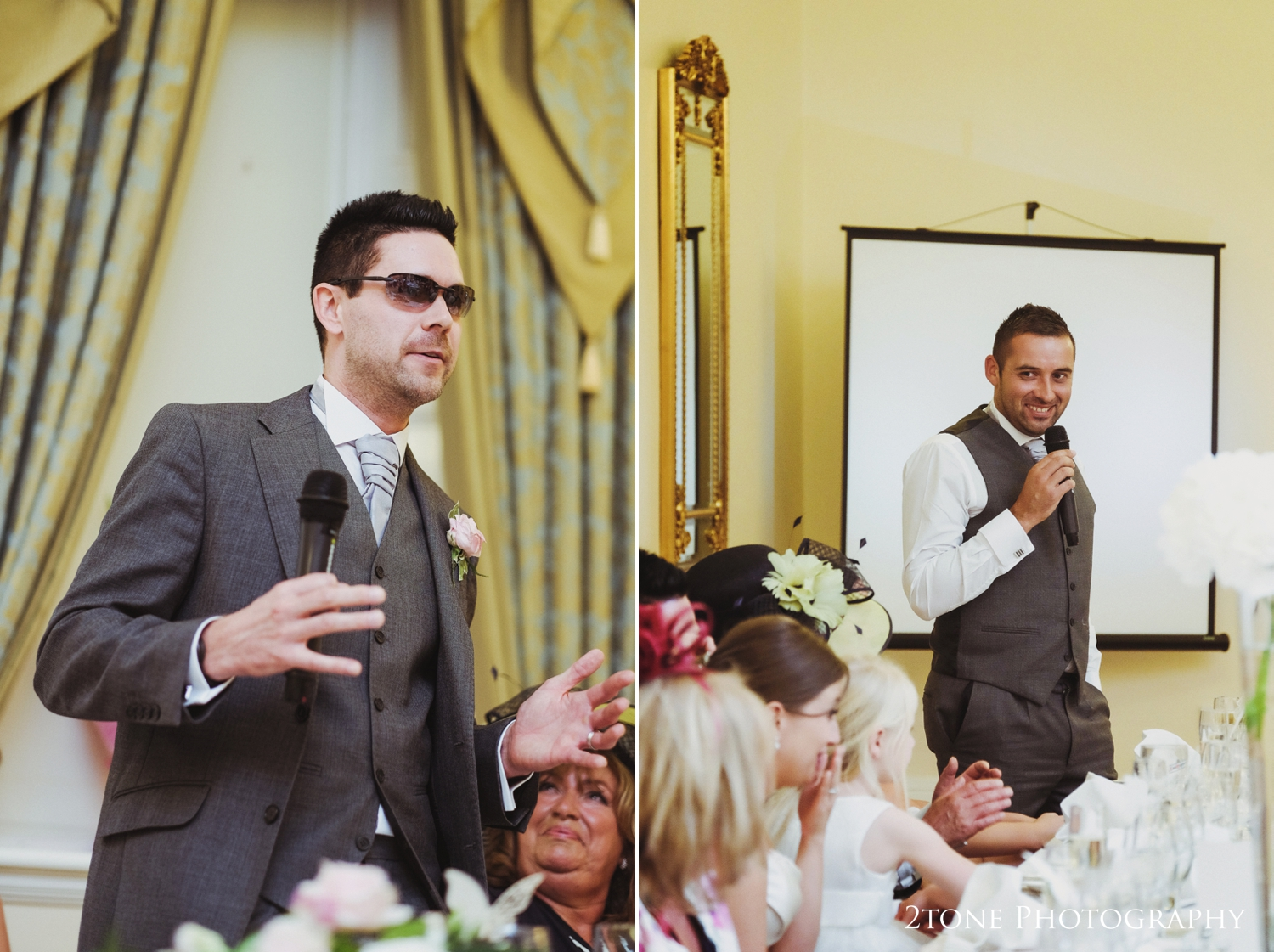 Wedding speeches at Doxford Hall in Northumberland.  Wedding Photography by Durham and Newcastle wedding photographers www.2tonephotography.co.uk