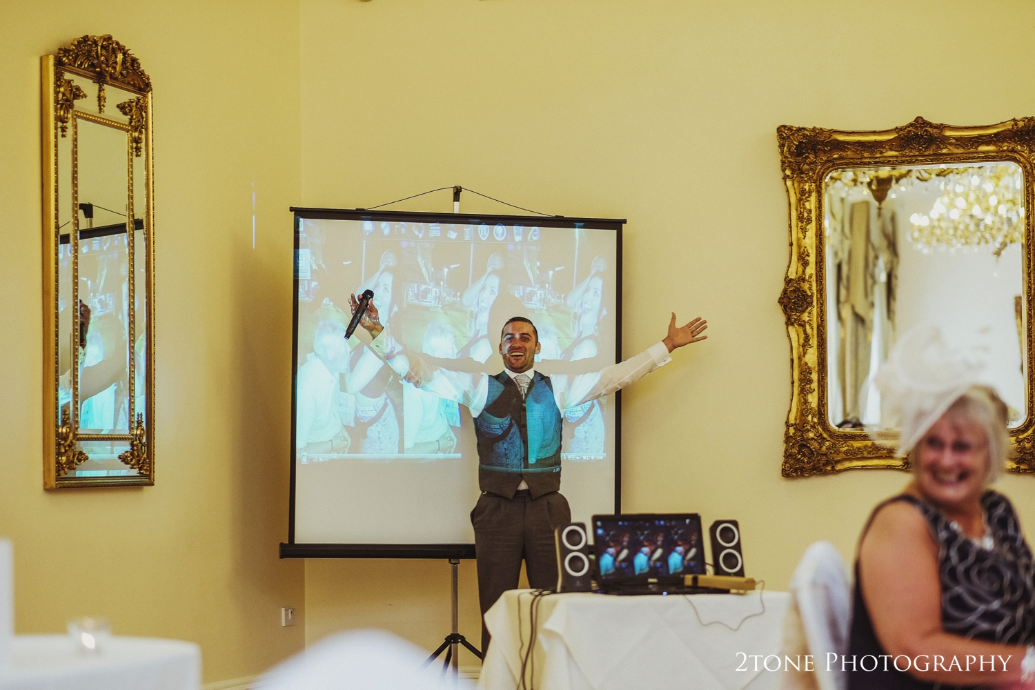 The best man's speech at Doxford Hall in Northumberland.  Wedding Photography by Durham and Newcastle wedding photographers www.2tonephotography.co.uk