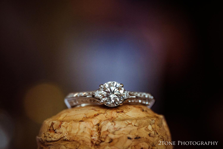 Natalie's stunning engagement ring.