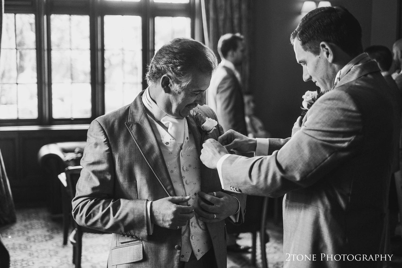 The boys getting ready.  Matfen Hall wedding photography by award winning durham wedding photographer www.2tonephotography.co.uk