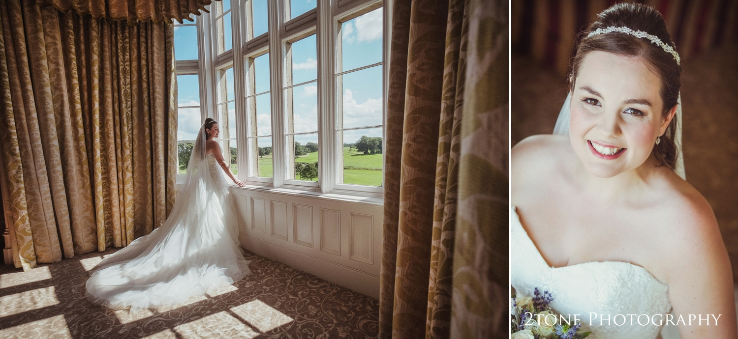 Natalie looked stunning in her ballgown style wedding dress,long veil and a delicatetiara headband.