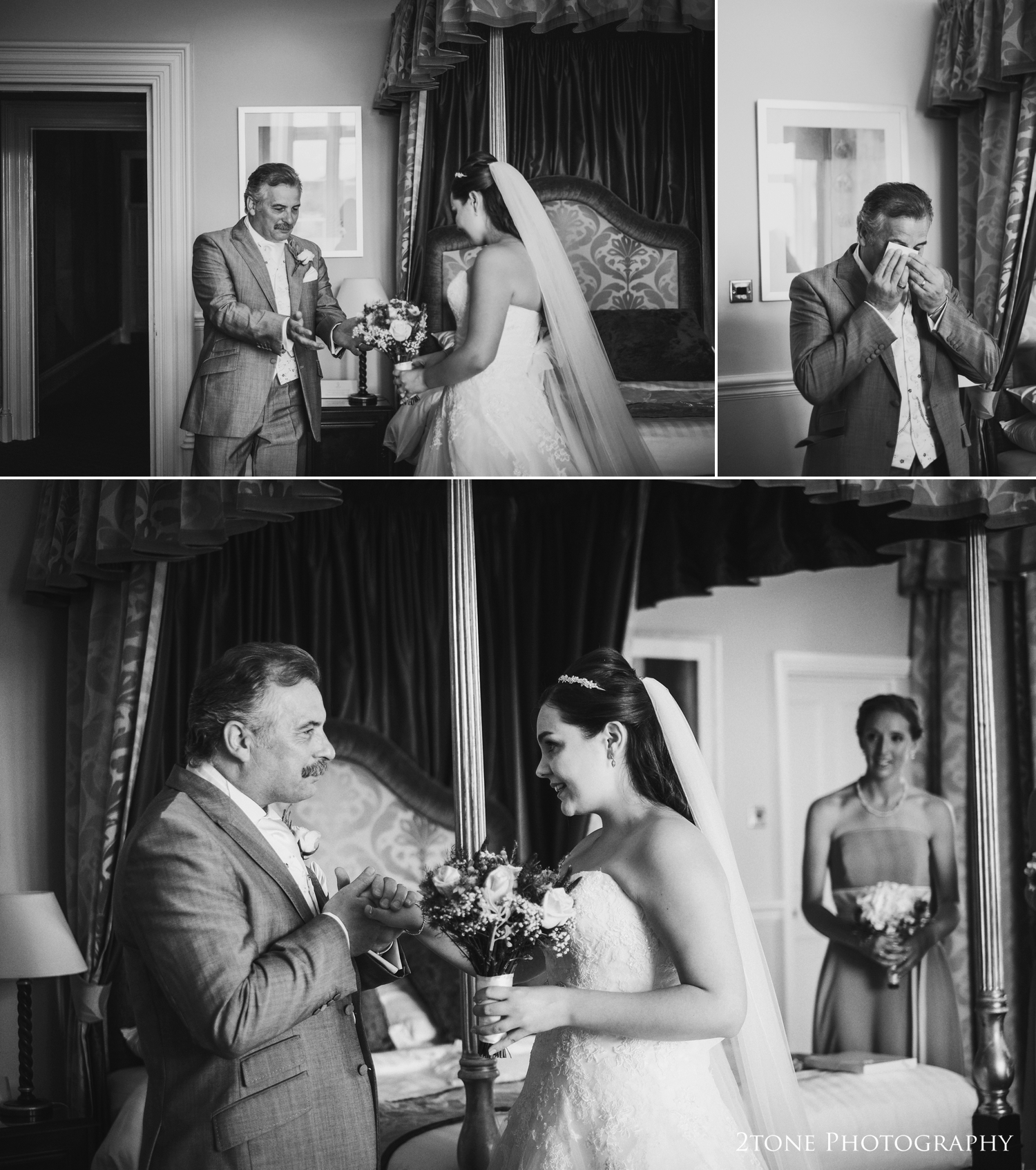 A priceless momentand one of my favourites on a wedding day -the moment the bride's father sees his daughter for the first time onher wedding day.