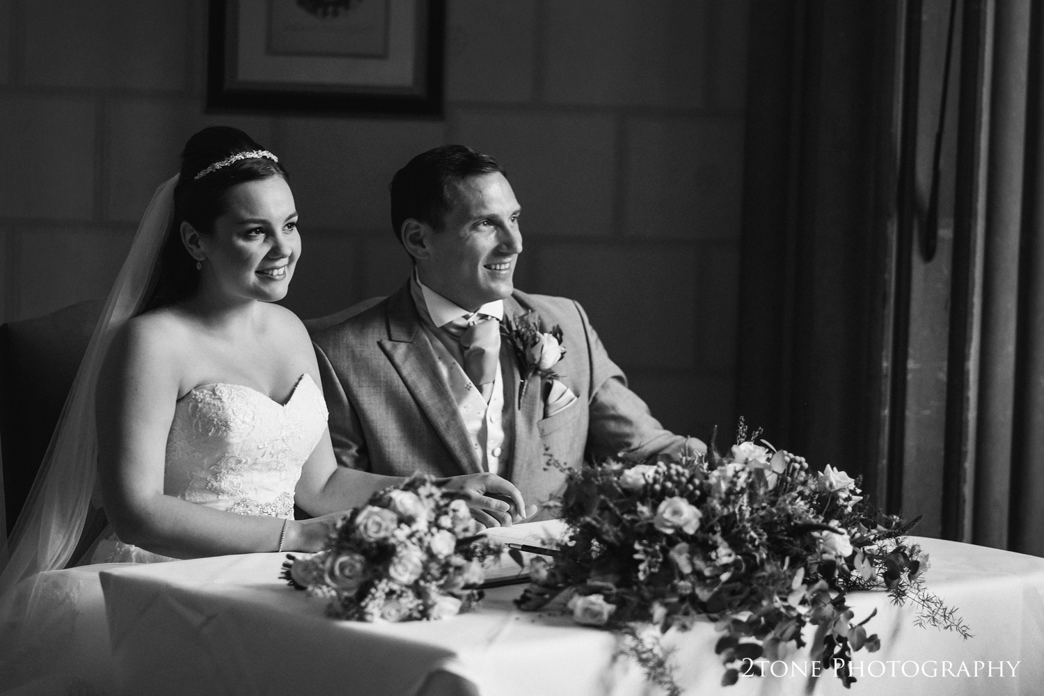 Gorgeous light for Natalie and Russell as they pose for their family and friends.