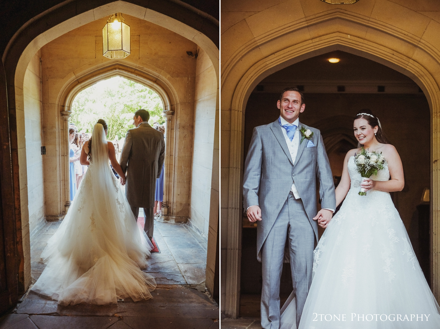 Natalie and Russell were lucky enough to have stunning weather for their wedding day and so everyone headed straight outside to enjoy it.