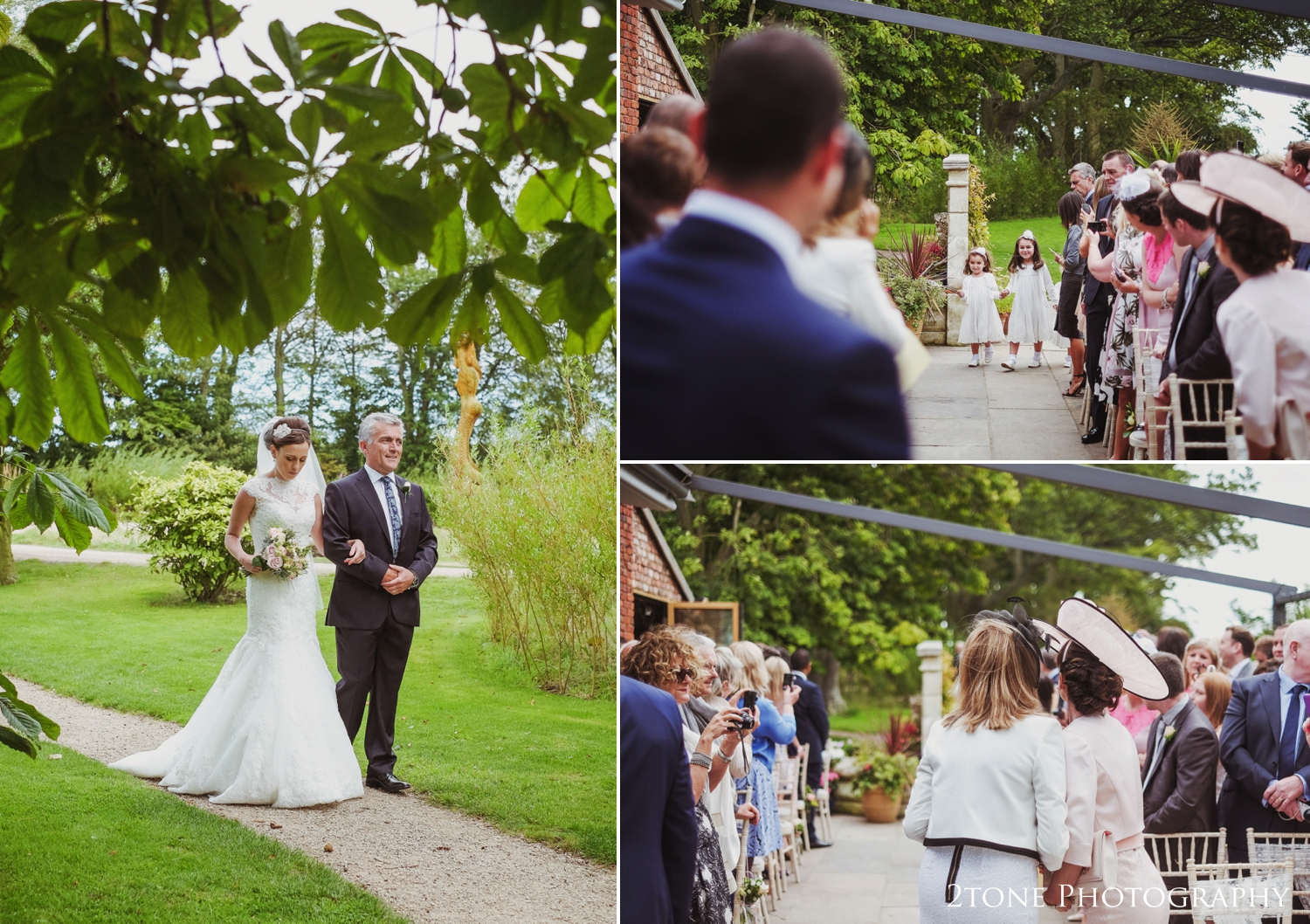 Danielle looked stunning as she walked to her ceremony.  Both Danielle and Alex's Mums stood up and held hands while they watched Danielle escorted down the aisle on the arm of her dad, a moment we are proud to have captured for Danielle and Alex.