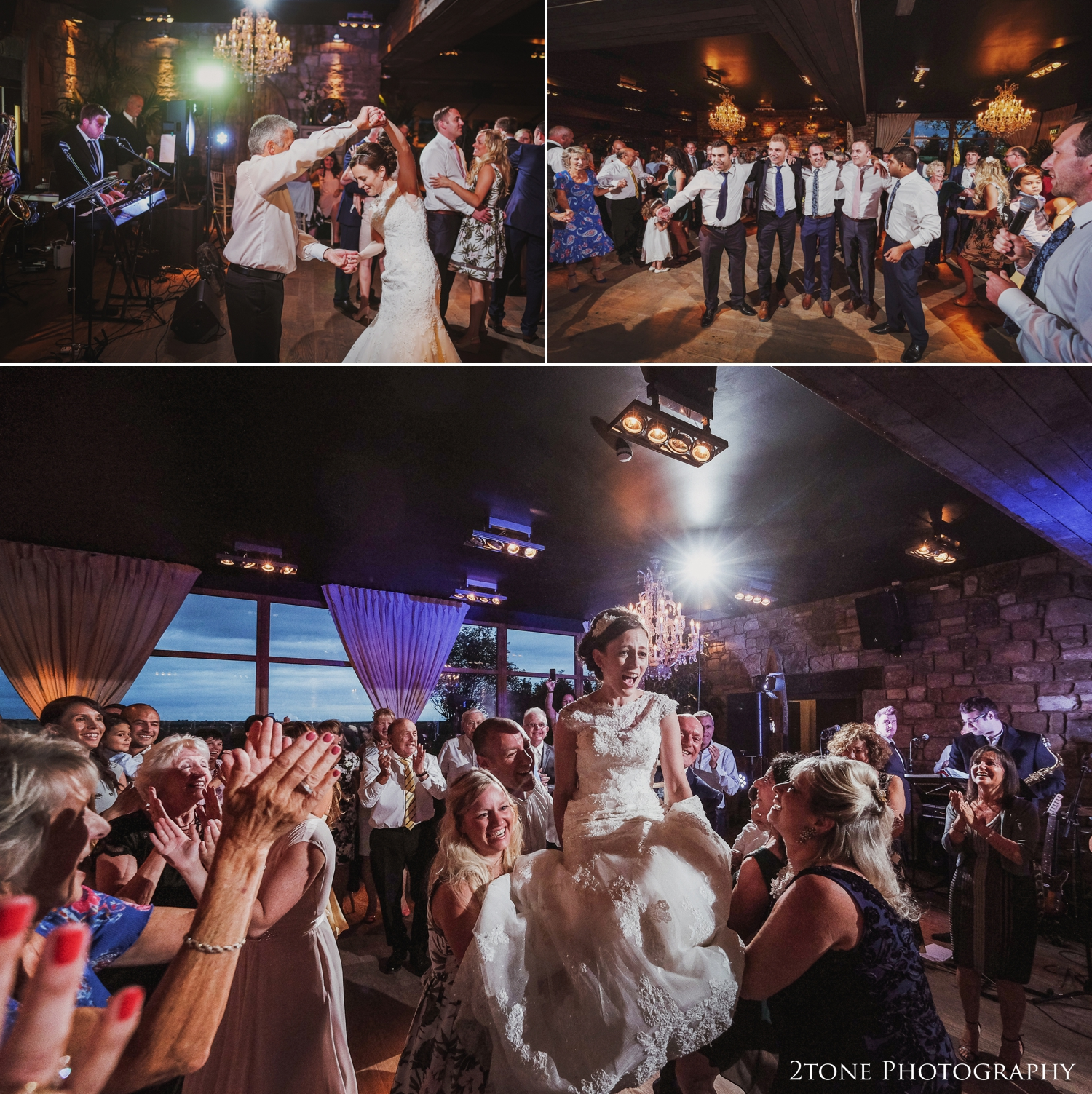 The end of the first dance introduced the beginning of the traditional Hora dancing, a nod to Alex's jewish background.
